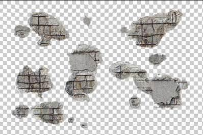 Damaged Walls Alpha Masked Amp Transparent Decals