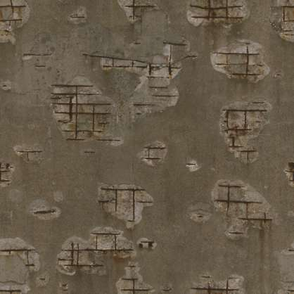 3x3m photogrammetry scan scanned concrete rough damaged rebar weathered displacement heightmap wall