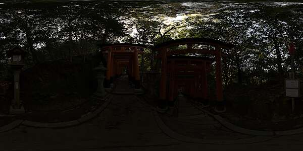 HDR Panorama 0107 - Japan Inari Temple G, HDRi light probe
