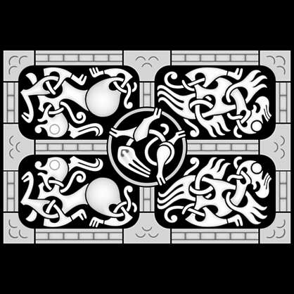 3D Ornament Set - Viking 01