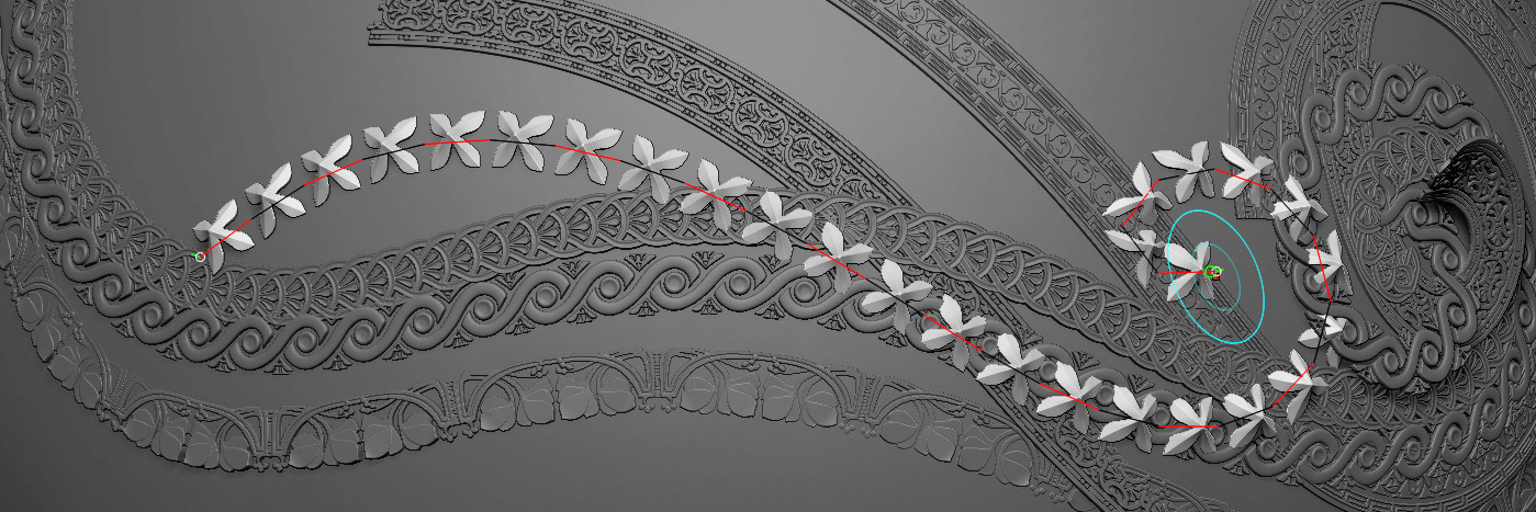 Ornament Trim Mesh And Imm Zbrush Kitbash Set