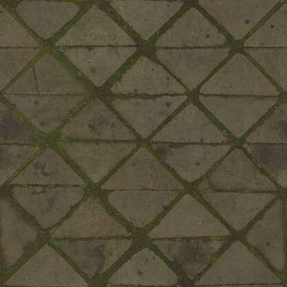 3D Scanned Triangle Floor Tiles - 2x2 meters
