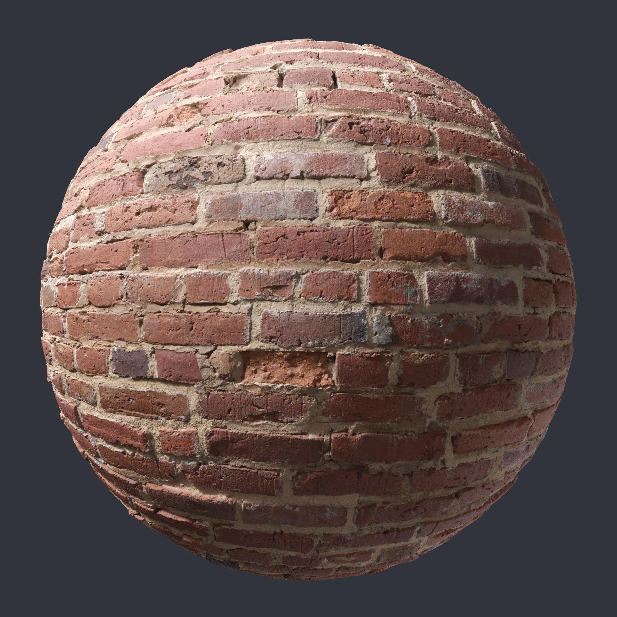 3d Scanned Brick Wall 2x2 Meters
