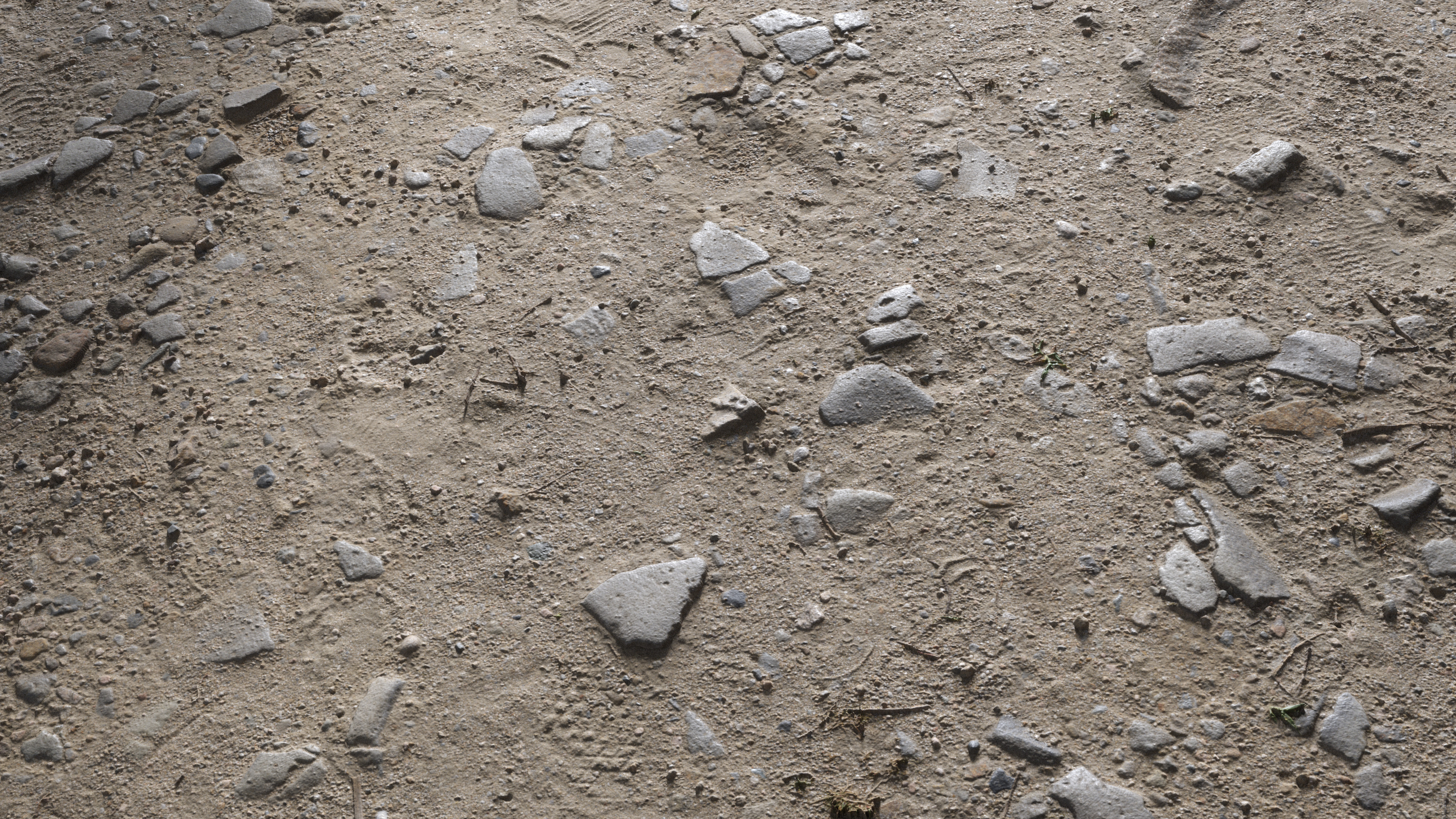 3D Scanned Soil Ground with Rocks - 2.5x2.5, 3x3, 4x4 meters