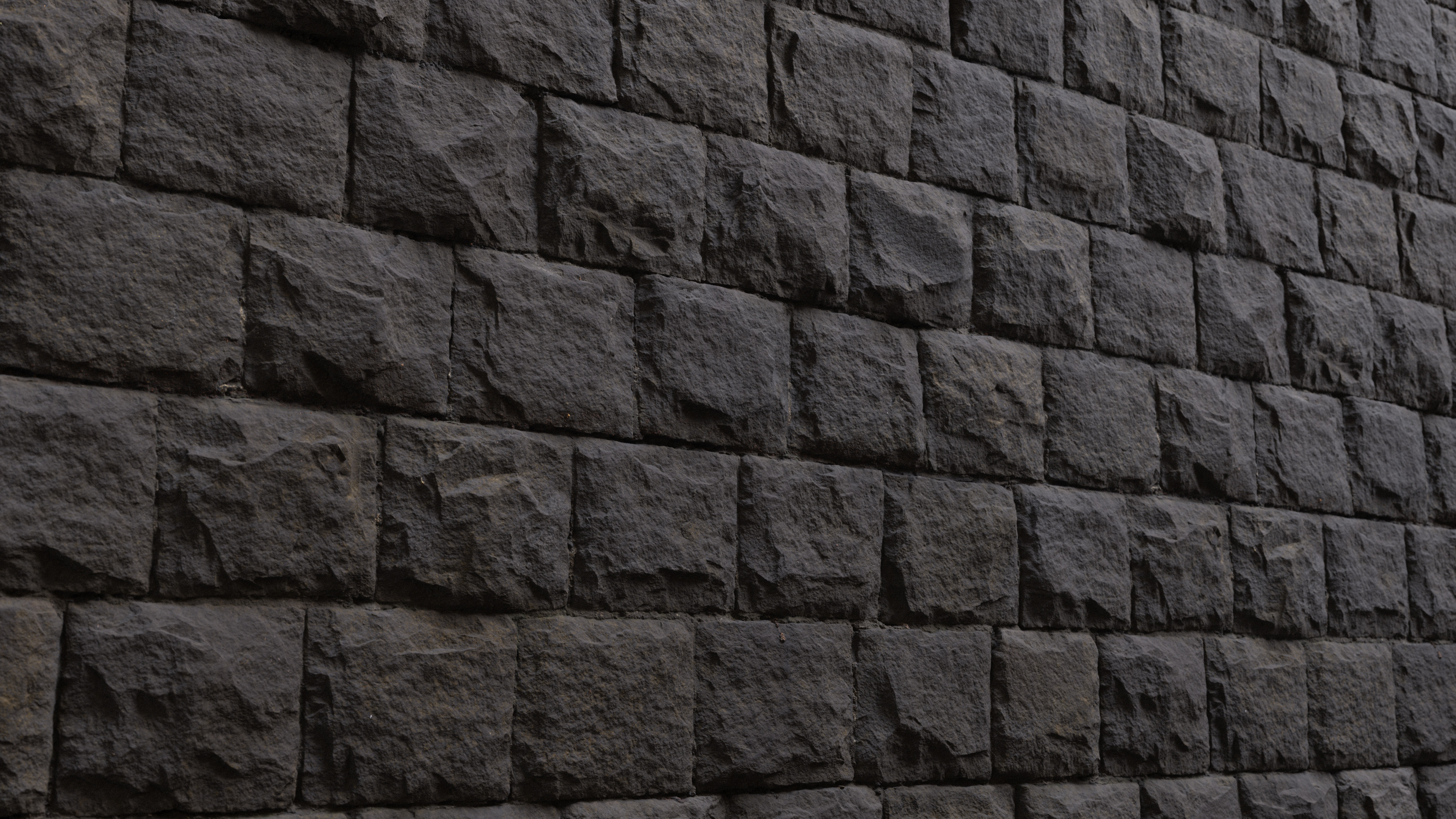 3D Scanned Stone Wall - 2x2 meters