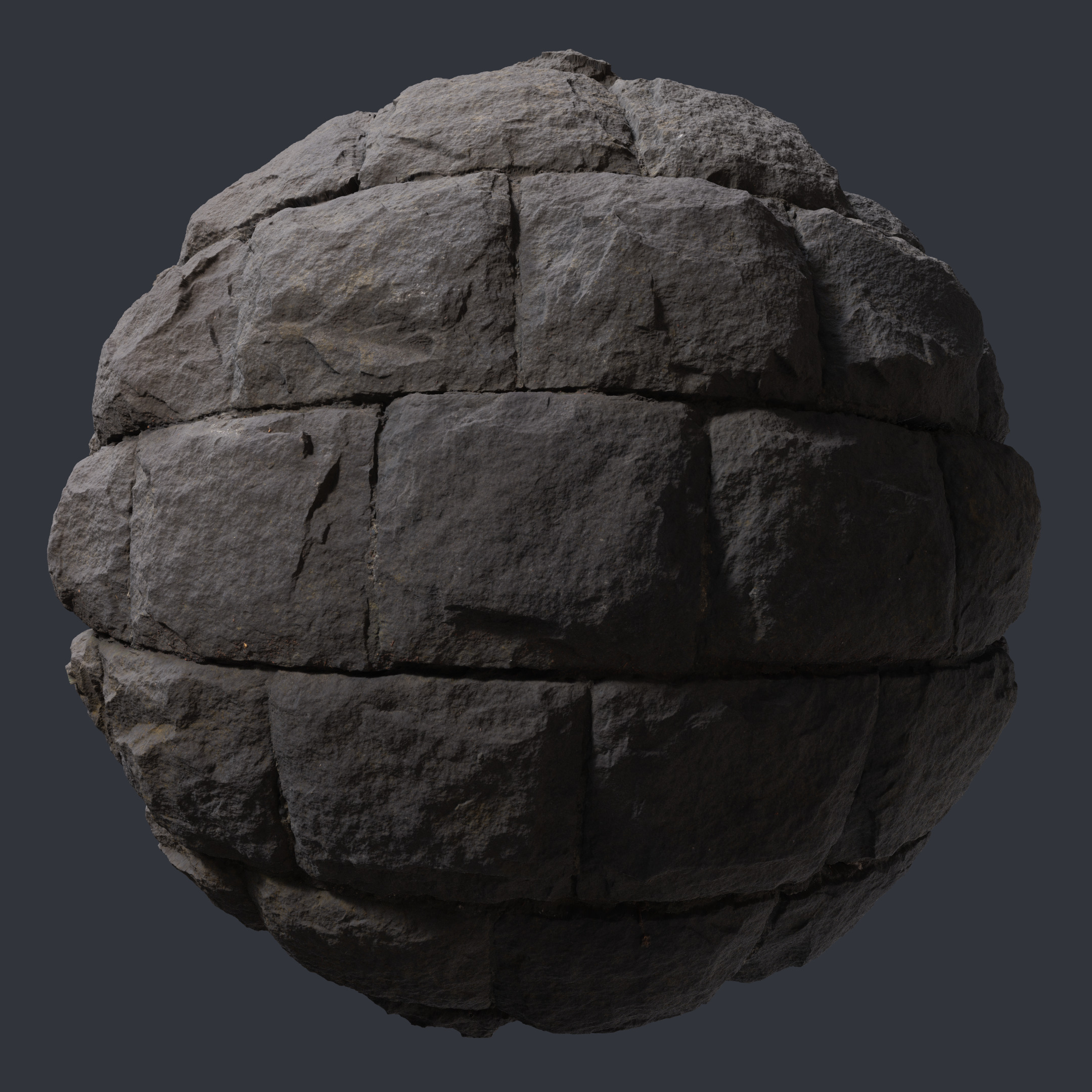 3d Scanned Stone Wall 2x2 Meters