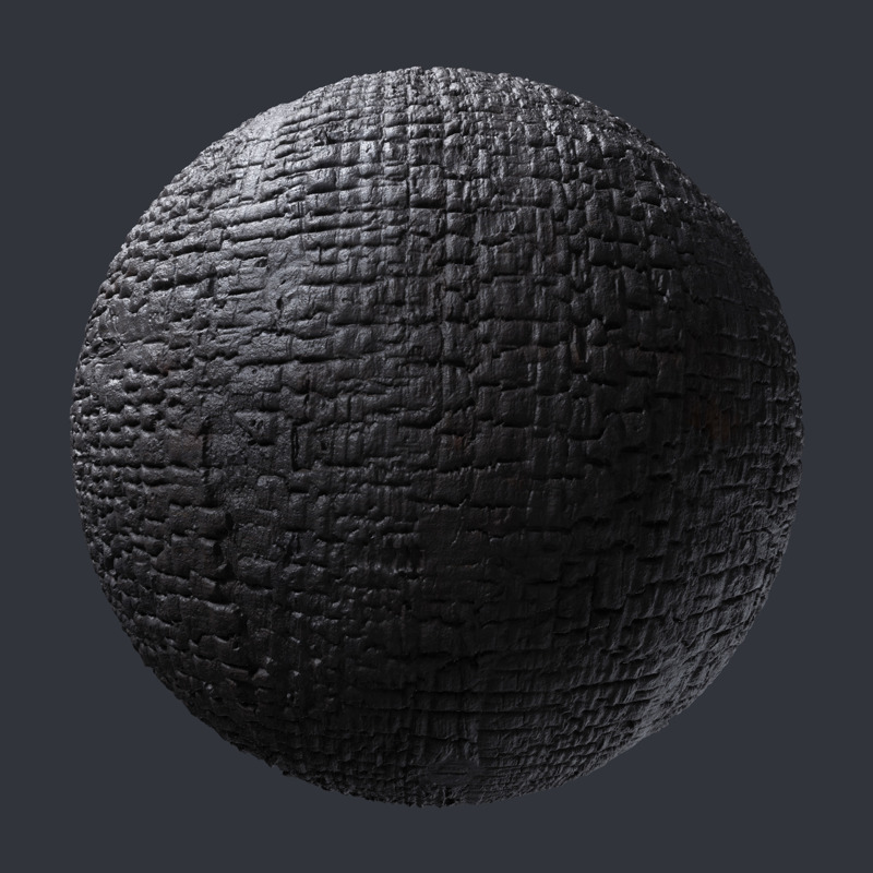 3d Scanned Charred Wood Shou Sugi Ban 1 2x1 2 Meter