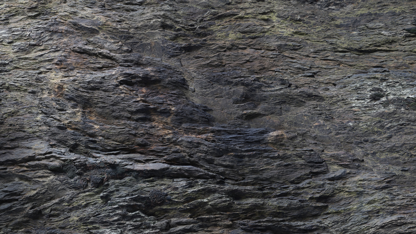 3d Scanned Cliff Rock 2 5x2 5 Meters
