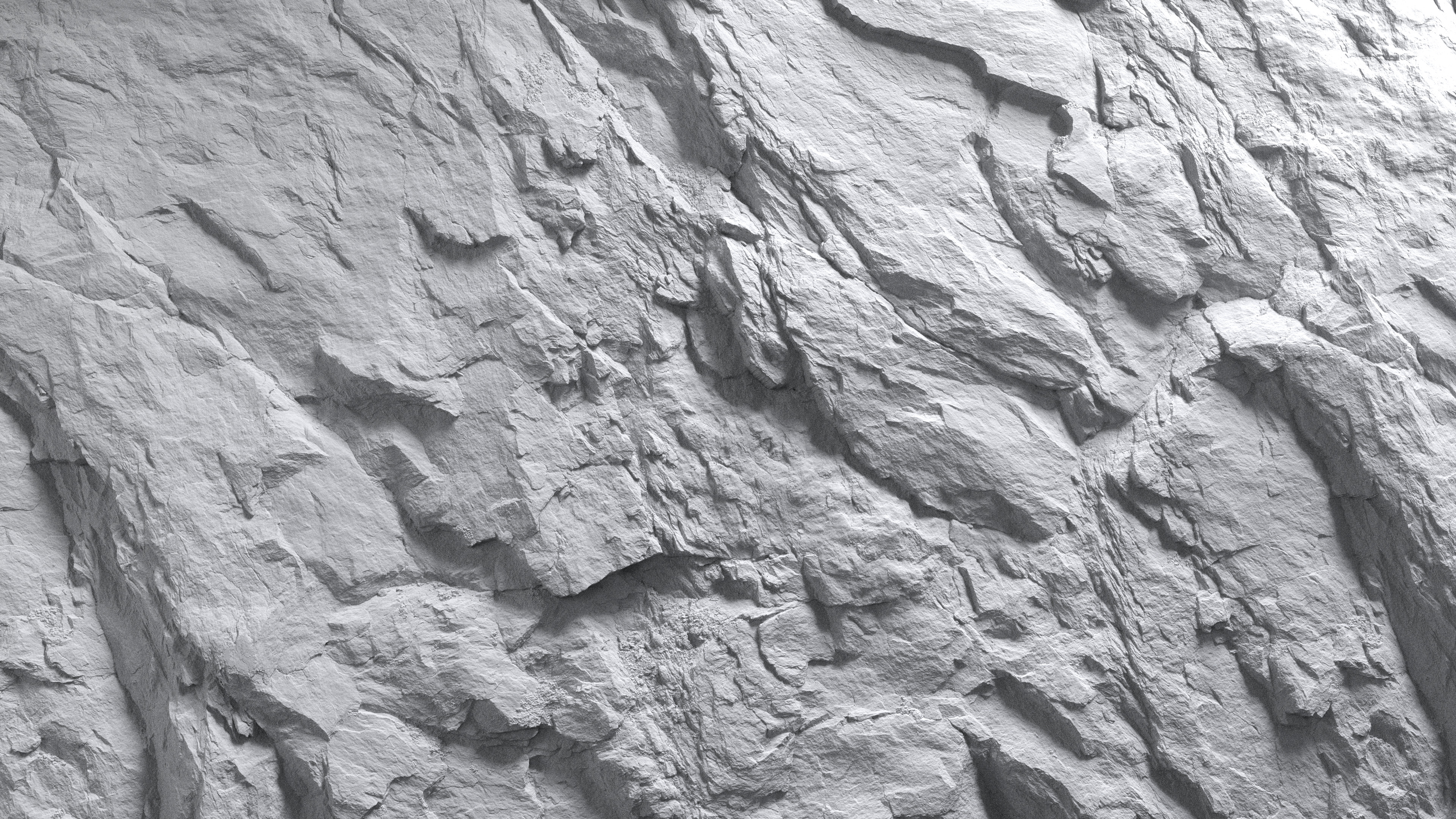 3d Scanned Rock Surface 4x4 Meters