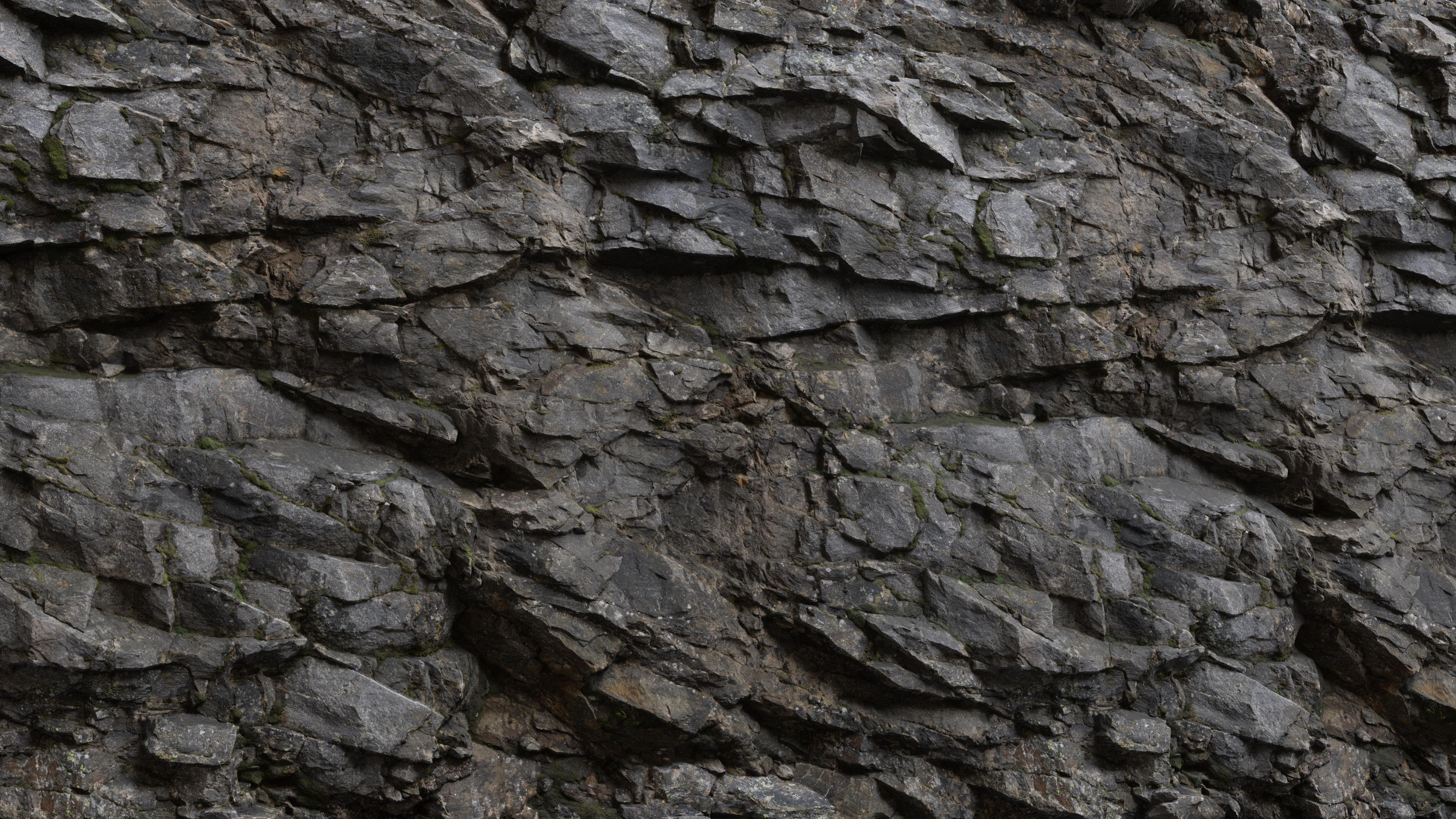 3D Scanned Cliff Rock - 2x2 meters