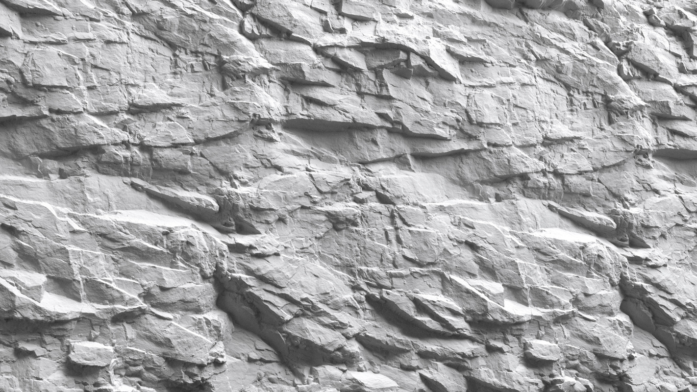 3d Scanned Cliff Rock 2x2 Meters