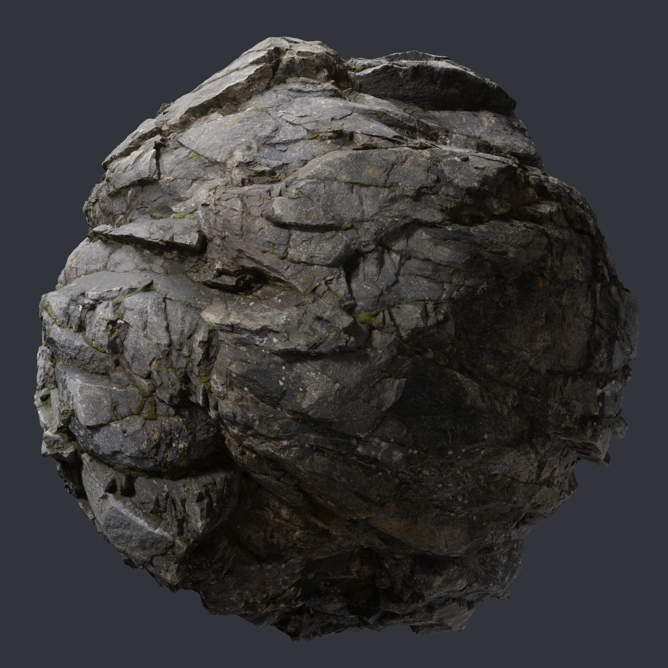 3d Scanned Cliff Rock 2x2 Meters