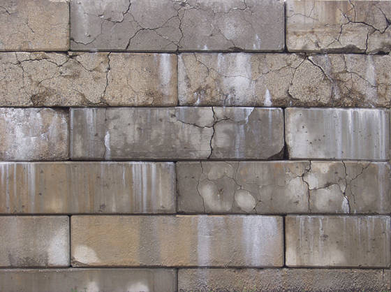 brick modern large damaged dirty cracked cracks blocks