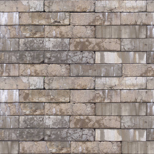 BrickLargeBlocks0017 - Free Background Texture - brick modern large damaged dirty cracked cracks ...
