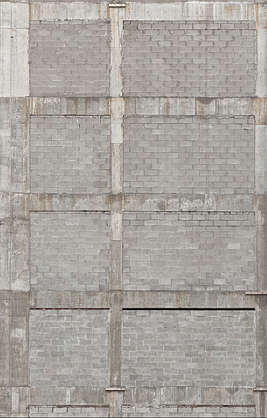 building bare facade industrial brick large reinforced modern old usa united states new york ny