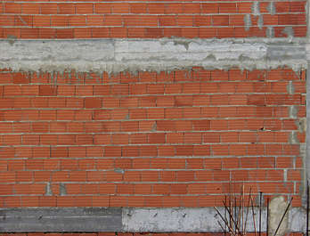 brick large modern orange concrete