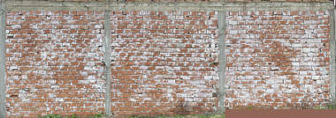 brick modern large cinderblocks morocco facade building damaged worn old dirty