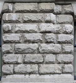 brick medieval facade rough