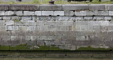brick medieval sharp dock wall water