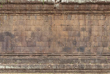cambodia brick large wall old dirty