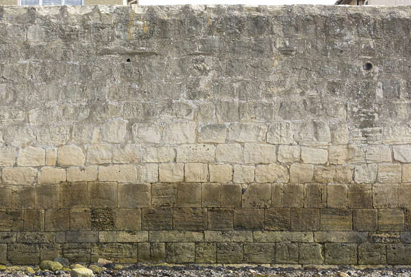 brick medieval lime coast waterside dirty old UK