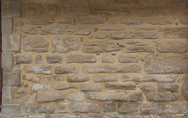 brick medieval old mixed size rounded