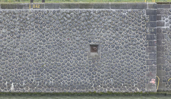 wall stone cobble canal harbor