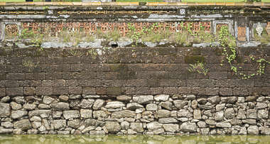 wall medieval canal sharp vietnam