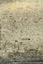 brick medieval plaster old wall dirty