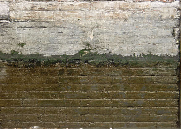 brick medieval dirty wet dock wall harbour