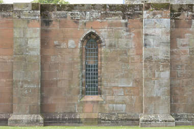 brick medieval sharp leaking dirty cathedral window UK