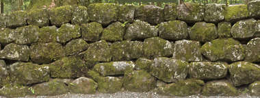 japan brick medieval old mossy moss groutless old weathered castle wall