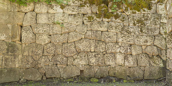 castle wall old medieval japanese brick stones japan
