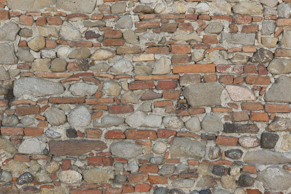 brick modern mixed old dirty stones