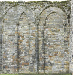 brick medieval building facade arches castle cathedral church UK