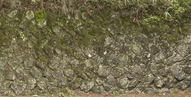 moss mossy wall japan brick medieval old work rounded