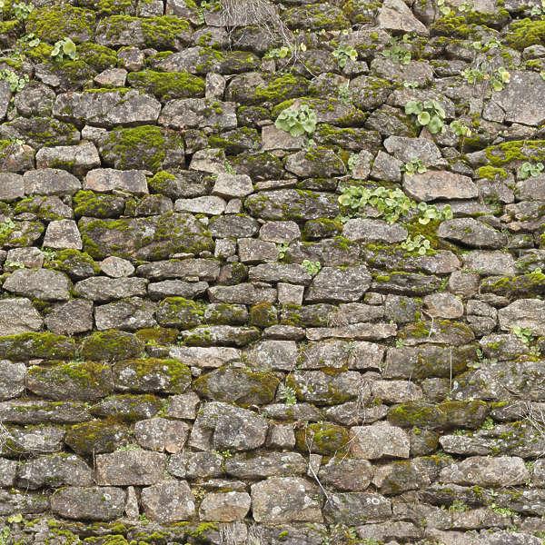 Brickoldovergrown0008 Free Background Texture Brick