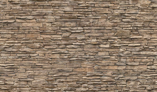 Grout Less Stacked Stone Brick Wall