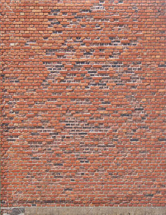brick small modern damaged brown