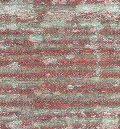 brick modern small dirty brown