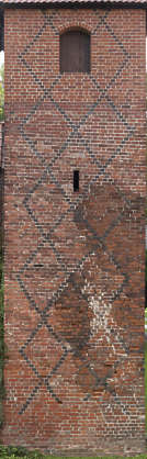 brick small modern medieval castle weathered tower