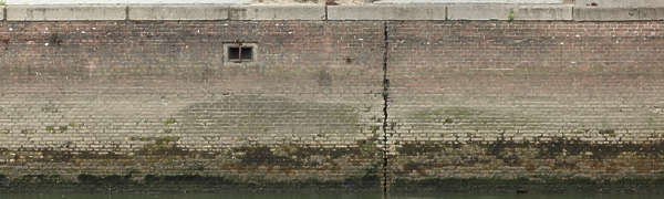 brick dirty dock wall small