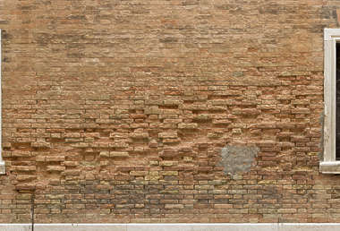 venice italy brick modern weathered old damaged