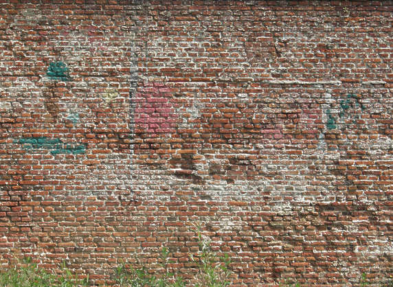 brick small dirty wall modern old