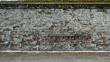brick small old dirty wall