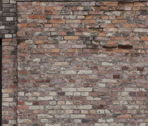 brick small modern weathered old