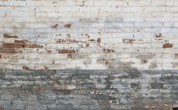 brick small painted dirty old damaged