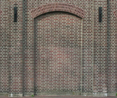brick door arch modern small