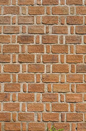 brick small brown mixed