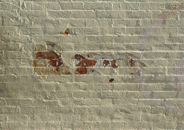 brick modern small wall painted plastered